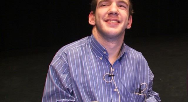 Johnny Agar Gives Inspiring Message to NHS Students