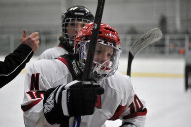 Northview High School Boys Varsity Hockey falls to Reeths-Puffer High School 6-1