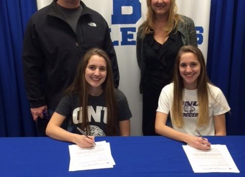 Senior Soccer Sisters Haley and Hannah Lapanowski sign with Olivet Nazarene!