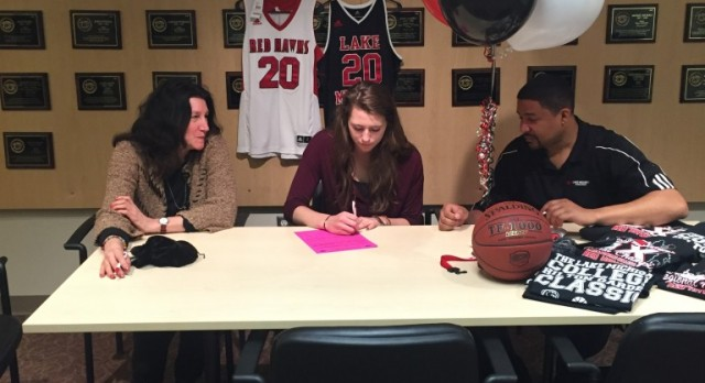 Senior Basketball Star Brooke Becker signs with Lake Michigan College!