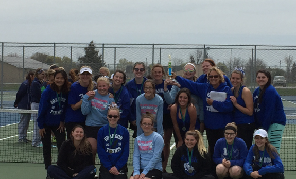Brandon Girl's Tennis- Lapeer Tournament Champions!
