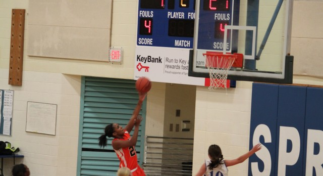 Girls 8th Grade Orange Defeats Springboro Blue