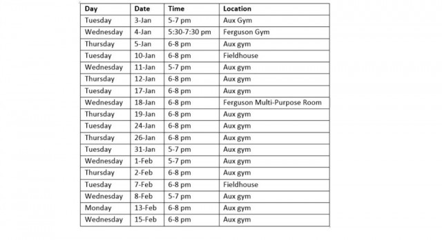 Boys Lacrosse Pre-Season Conditioning Schedule Posted