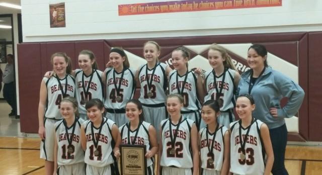 Girls 7th Grade Black Win Gold!
