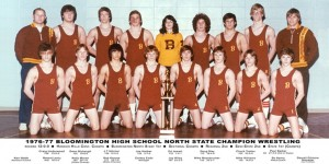 Wrestling 1977 State Champs 300