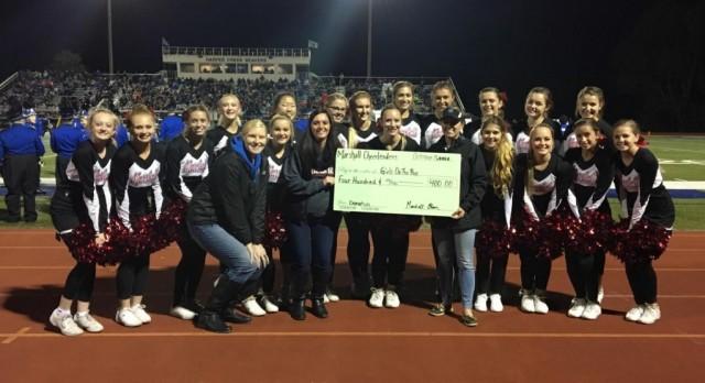 Cheer Team donates to Calhoun County Girls on the Run