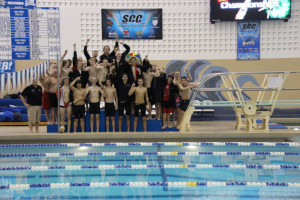 Boy's Swimming & Diving wins the Southwestern & Central Conference Championships