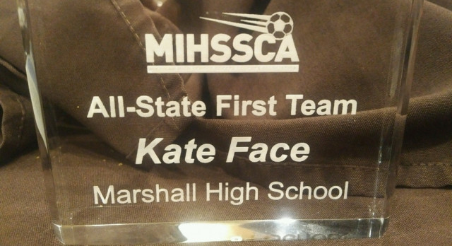 Kate Face earns 1st Team All-State