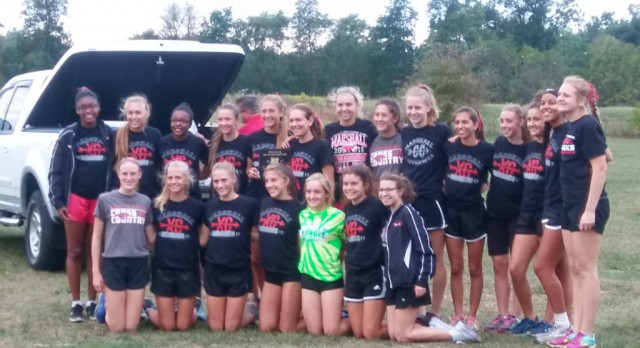 Girls Cross Country wins County Meet at Turkeyville