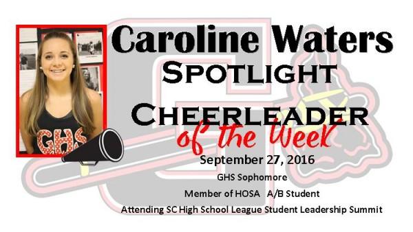 Caroline Waters Spotlight Cheer
