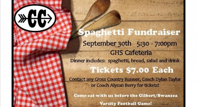 Cross Country Spaghetti Fundraiser