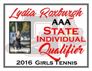 Lydia Roxburgh State Qualifier