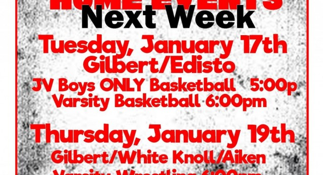 Home Events Week of January 15th