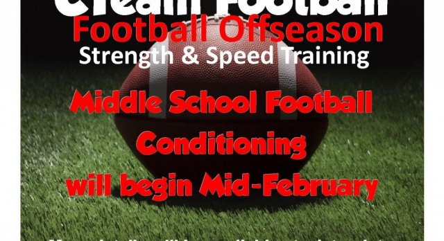 C Team Football PreSeason Conditioning