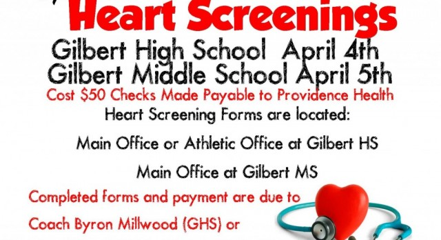 Optional Heart Screenings Offered at GHS and GMS