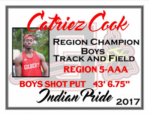 C Cook Region Champ Shot Put
