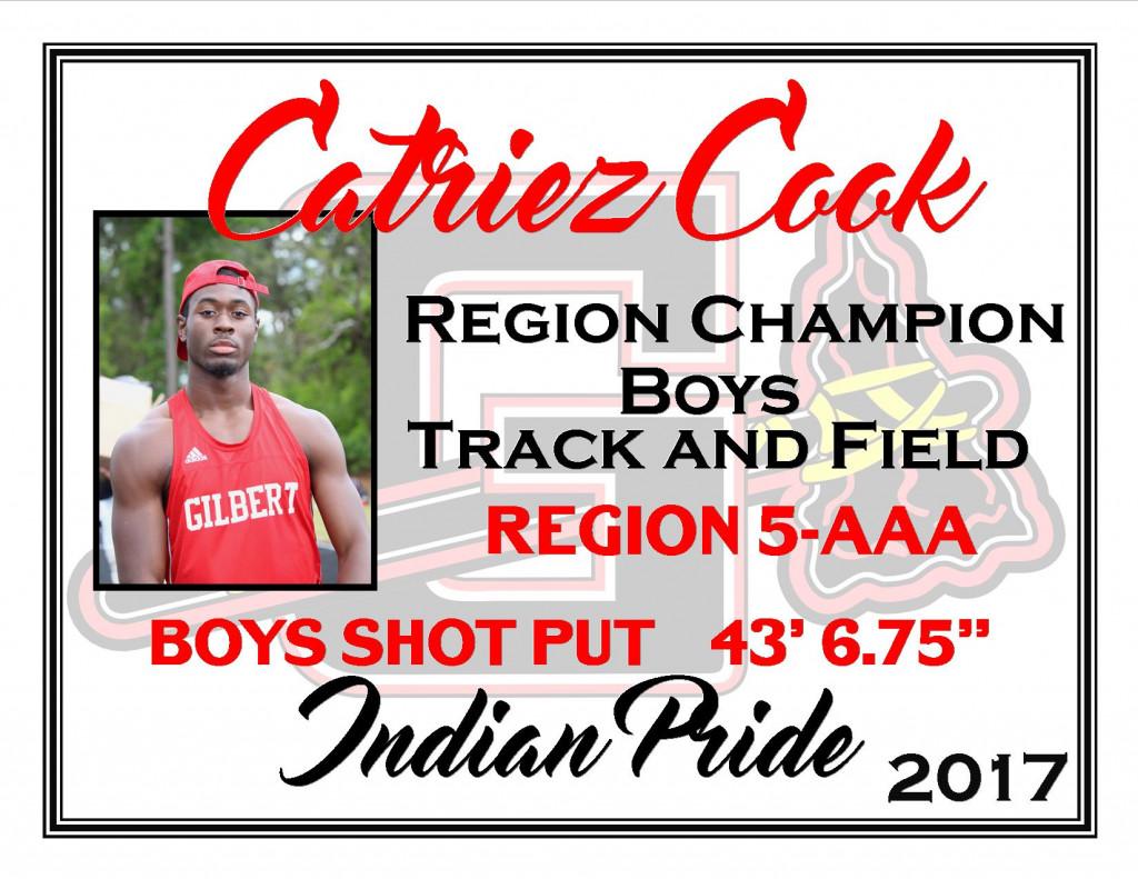 C Cook Region Champ Shot Put
