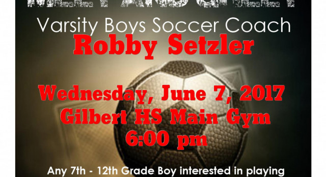 Meet and Greet Boys Soccer Head Coach Robby Setzler