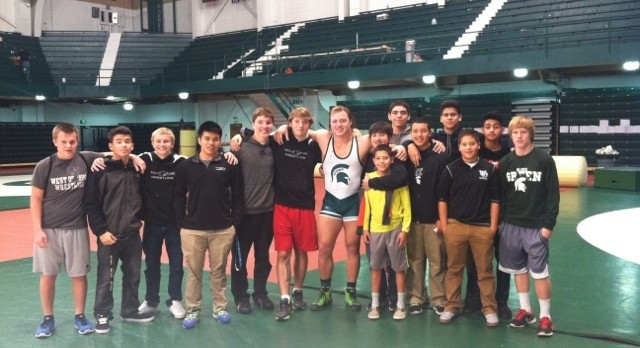 W.O. Wrestlers Head to MSU to Support Former Panther Mike McClure