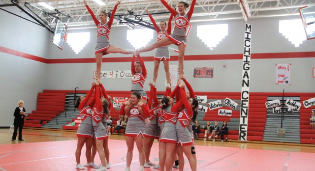 MC Varsity Cheer 2014 Conference, District, AND STATE CHAMPS!