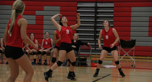 Michigan Center High School Varsity Volleyball beat Pirates 3-1