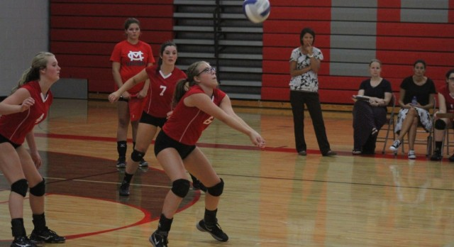 Michigan Center High School Girls Varsity Volleyball beat Grass Lake High School 3-1