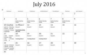 July 7x7 2016 schedule