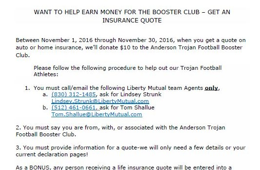BOOSTERS: new way to help the Football program