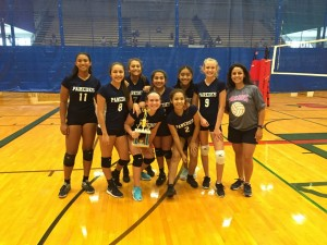 Paredes Middle School's 8th grade volleyball team, second place finishers at the 2016 Lady Trojan Middle School Volleyball Tournament.