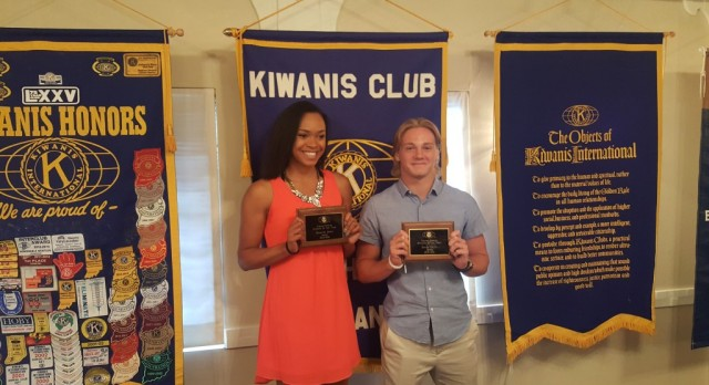 Shawntel James and Kenny Kerrn are Kiwanis Athletes of the Year