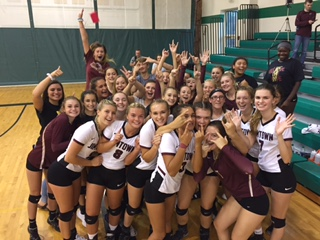 Jimtown High School Girls Varsity Volleyball beat Northridge High School 3-1