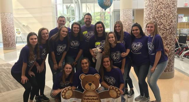 Varsity VB visits Egertons at Riley Hospital