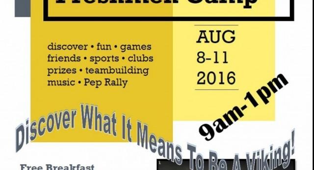 Viking Freshman Camp Begins Aug. 8th