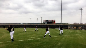 JV team warming up to beat the JAGS!