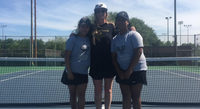 2 Lady Vikings Finish All District in Tennis!