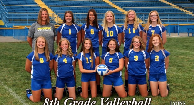 8th Grade Volleyball Fights Way to PTC Championship