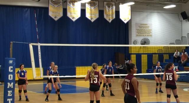 Middle School Volleyball Splits vs. Norton