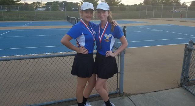 Girls Tennis Finishes 5th at PTC Tournament