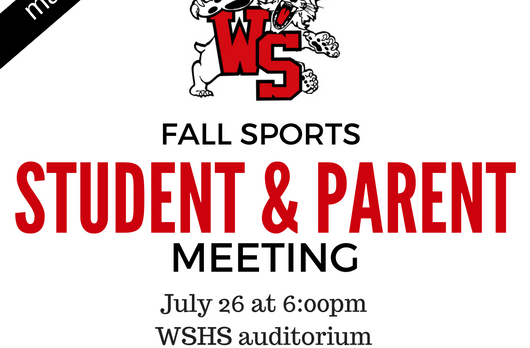 All Fall Sports Meeting set for July 26th