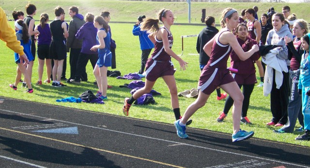 Watervliet High School Track/Field Varsity Girls finishes 1st place at Double Dual vs Lawton, Lawrence