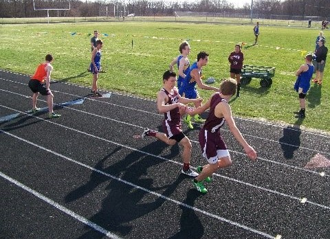 Watervliet High School Track/Field Varsity Boys finishes 1st place at Marcellus Co-Ed Relays