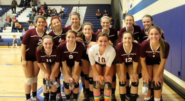 Watervliet High School Varsity Volleyball beat Bison 3-2