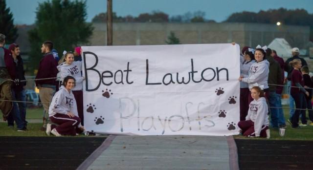 Watervliet High School Varsity Football beat Lawton High School 47-23