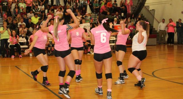 Watervliet High School Girls Varsity Volleyball beat Hartford High School 3-0