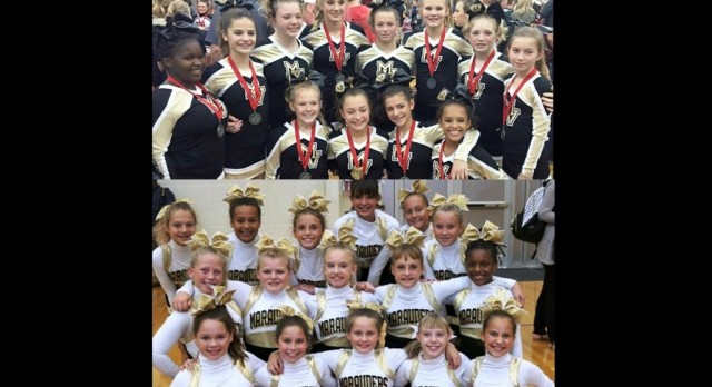 MVMS Cheer Places at State