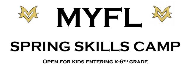 MYFL Spring Skills Camp