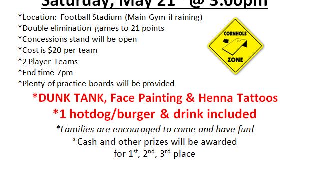 Cornhole Tournament This Saturday!