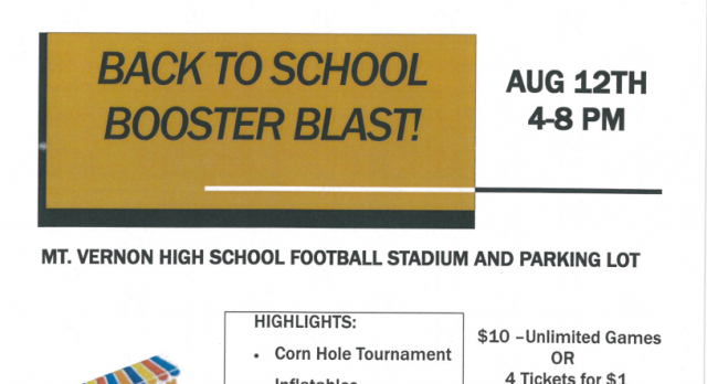 SAVE THE DATE: Back to School Booster Blast!