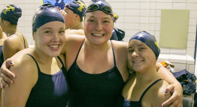 THS Girls Take Care of GI and Huron in Double Dual Meet   27Sep16