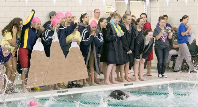 THS Girls Swimming Wins Key DRL Showdown at Carlson 20Oct16
